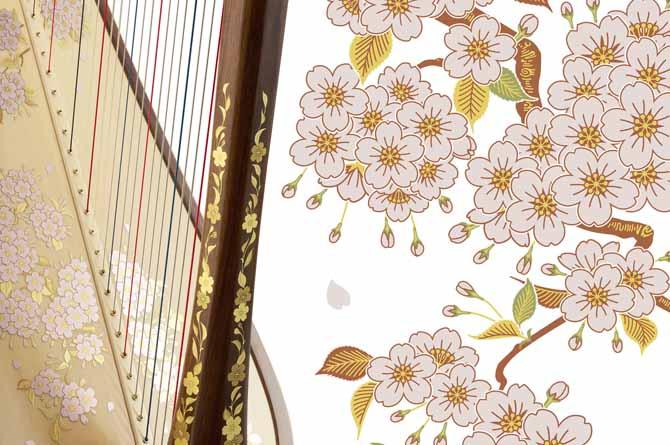 aoyama harp唐草模様さくら