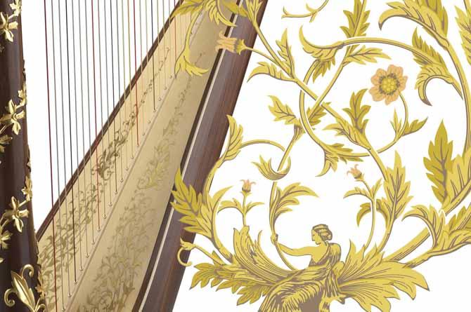 aoyama harp唐草模様